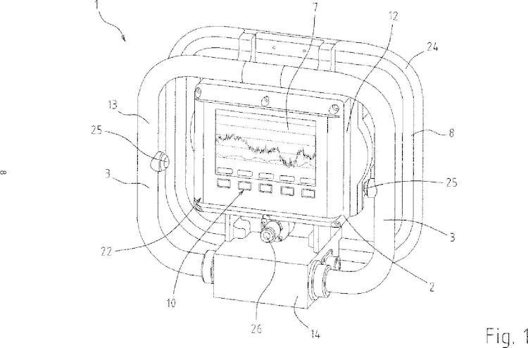 Aparato portátil para controlar la condición de una banda circulante en una máquina de hacer papel.