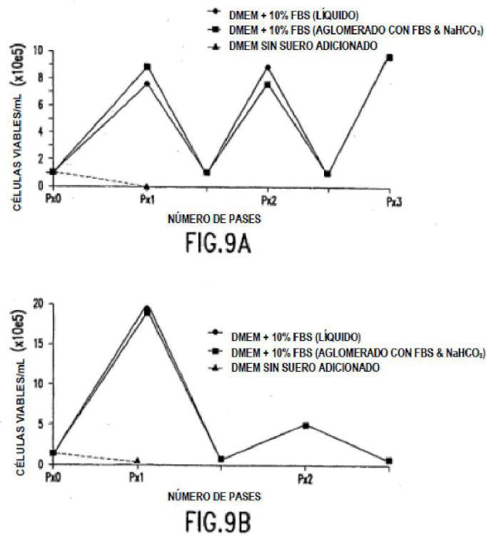 Células en polvo seco y reactivos de cultivo celular y métodos para la producción de estos.