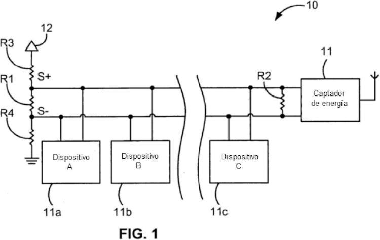 Captador activo de energía de bus de comunicaciones para un sistema de comunicación de señal diferencial.