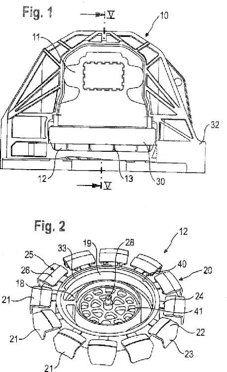 Cojinete amortiguado hidráulicamente para montar un motor.