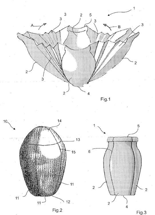 Urna fabricada de un material respetuoso con el medio ambiente.