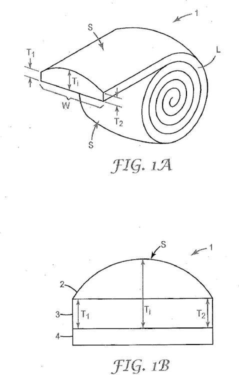 Cinta protectora perfilada para palas de rotores de generadores de turbina eólica.
