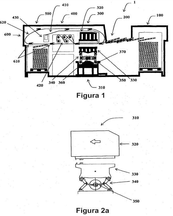 Máquina de estampación que comprende una prensa de platinas.