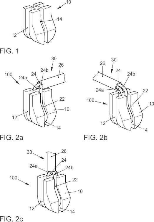 Sensor de desgaste de la guarnición de fricción y disposición de sensor de desgaste de la guarnición de fricción.