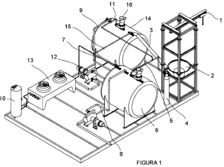 Plataforma portátil de mezcla para la producción de un fluido caloportador y procedimiento de producción del mismo.