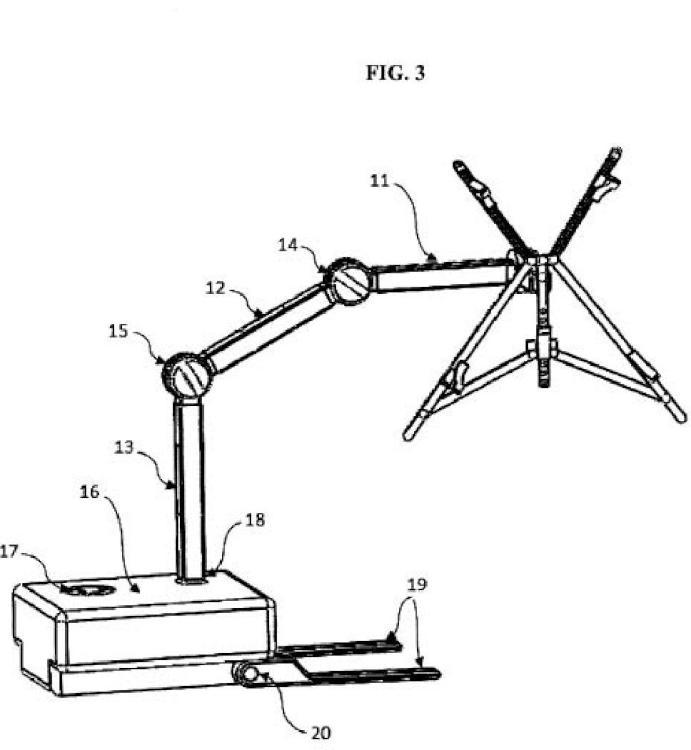 Sistema de sujeción adaptable para lectura en diferentes posiciones y alturas.