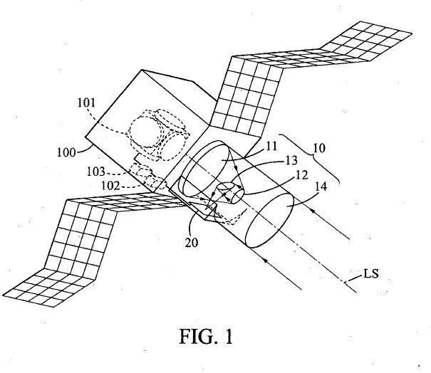 Estabilización de una línea de visión de un sistema de formación de imágenes instalado a bordo de un satélite.
