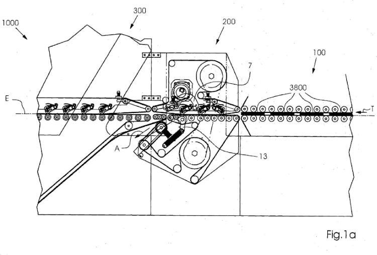 Dispositivo para expulsar soportes de impresión, y máquina de encolado de cajas plegables con tal dispositivo.