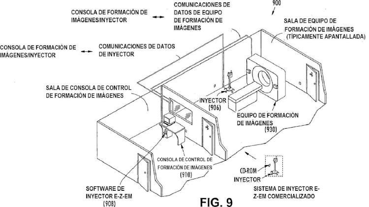 Sistema para hacer funcionar un inyector médico y dispositivo de formación de imágenes para diagnóstico.