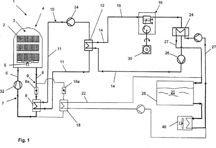 Procedimiento y disposición para la recuperación de energía térmica durante el tratamiento térmico de cinta de acero laminado en frío en un horno de campana para recocido.