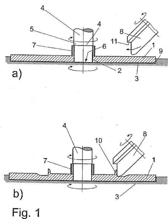 Procedimiento para la fabricación de un cubo en el proceso de perfilado por medio de al menos un rodillo de perfilado rotativo.