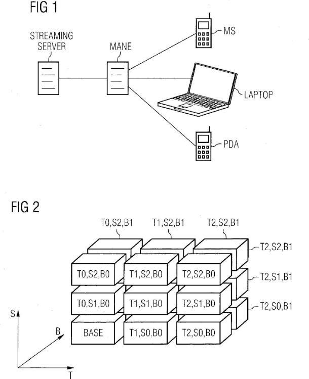 Procedimiento y dispositivos para transmitir datos escalables.
