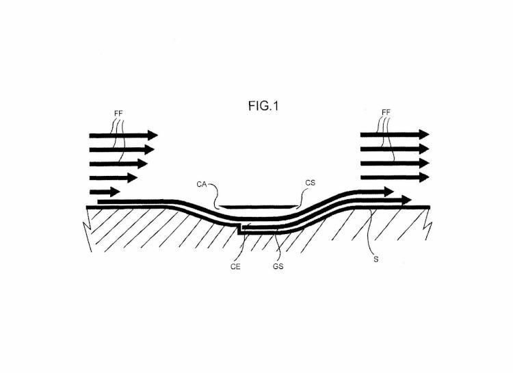 Disposición de ala y método para aumentar la sustentación de superficies aerodinámicas.