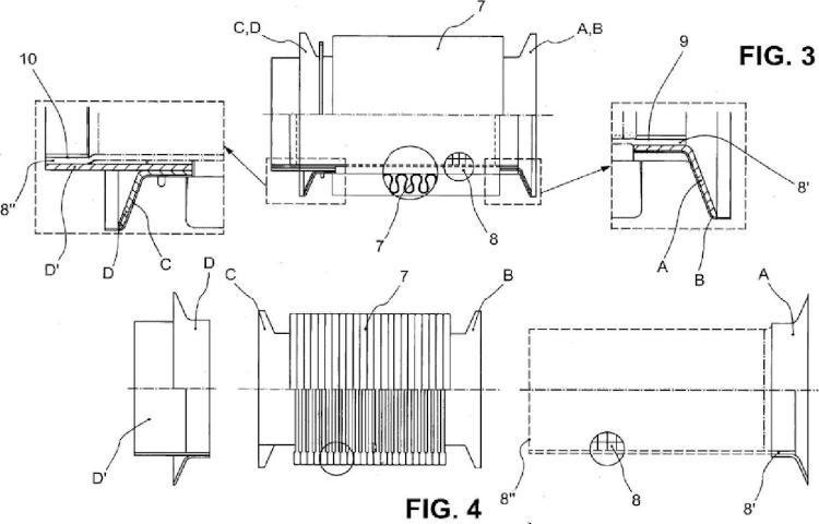Manguito flexible para tubo de escape de un sistema de vehículo a motor.