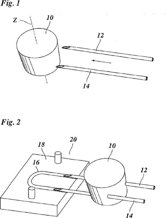 Método y equipo para la fijación de un hilo a un tampón.