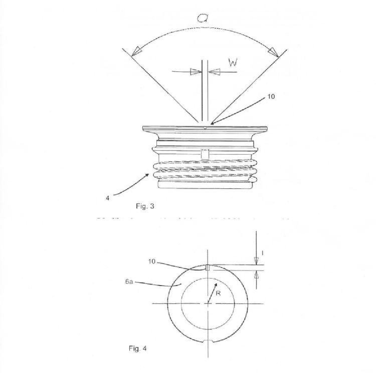 Preforma de material plástico con señalización para reconocer el posicionamiento.