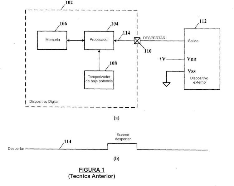 Control de energía de un dispositivo externo durante el modo de dormir de baja potencia sin intervención de la unidad de procesamiento central.