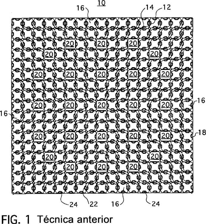 Conjunto de combustible nuclear con rejillas dotadas de pestañas pivotantes.