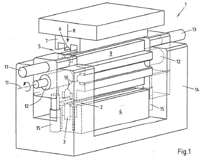 Dispositivo y procedimiento para la fabricación de perfiles huecos al menos parcialmente cerrados con tiempo de ciclo corto.