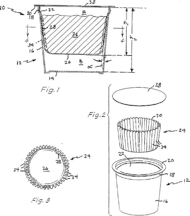 Cartucho de filtro para bebidas.