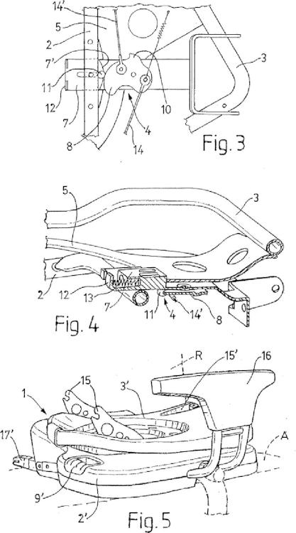Base para el acoplamiento de asientos infantiles en automóviles.