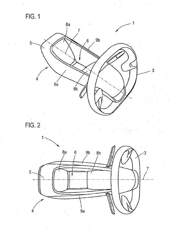 Disposición de volante para un vehículo motorizado.