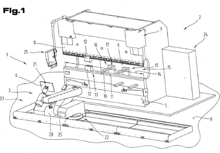 Prensa plegadora con un dispositivo de posicionamiento de piezas de trabajo así como un procedimiento para la explotación.