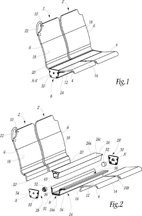 Asiento para vehículo de transporte de viajeros y vehículo que comprende tal asiento.