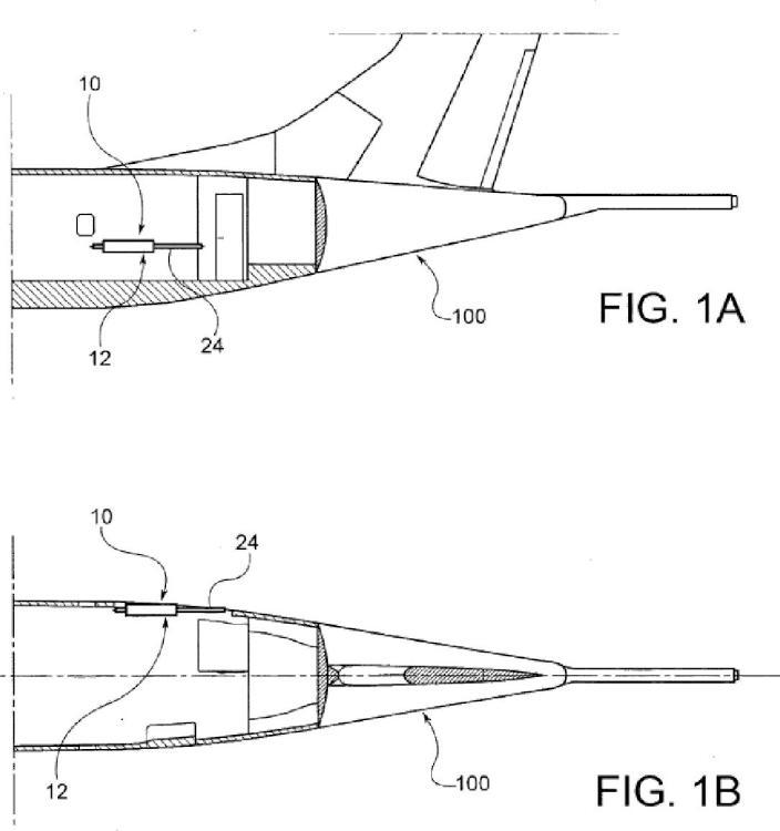 Avión provisto de un sistema de lanzamiento para lanzar marcadores de humo.