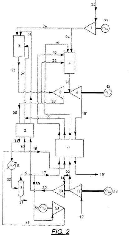 Sistema y método para generación de energía con alta eficiencia utilizando un fluido de trabajo de nitrógeno gaseoso.