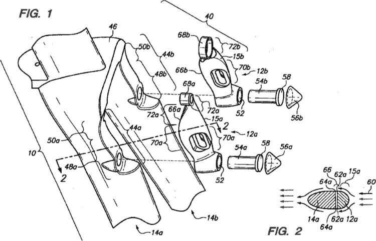 Sistema de frenos para una resistencia aerodinámica reducida.
