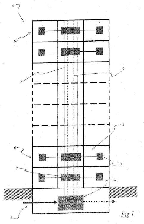 Sistema modular y procedimientos para conectar una red de comunicación externa con una red de usuario de un edificio.