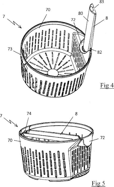 Aparato electrodoméstico de preparación culinaria que comprende un recipiente de trabajo que comprende un cestillo para la cocción al vapor.