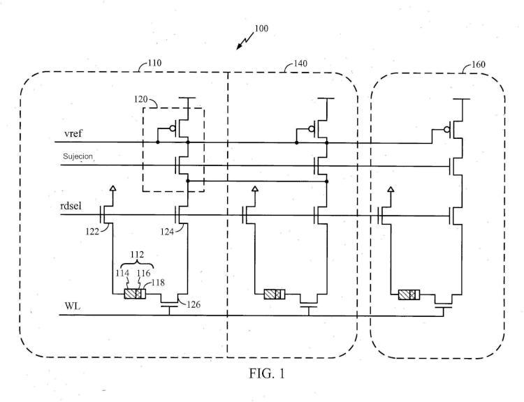 Configuración de memoria de acceso aleatorio magnética (MRAM) con patrón uniforme.