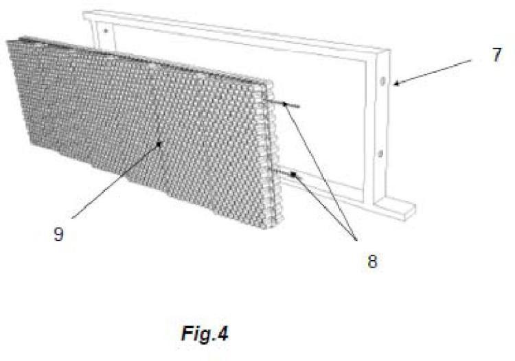 Cuadro adaptado para colmenas con el sistema de cartuchos.
