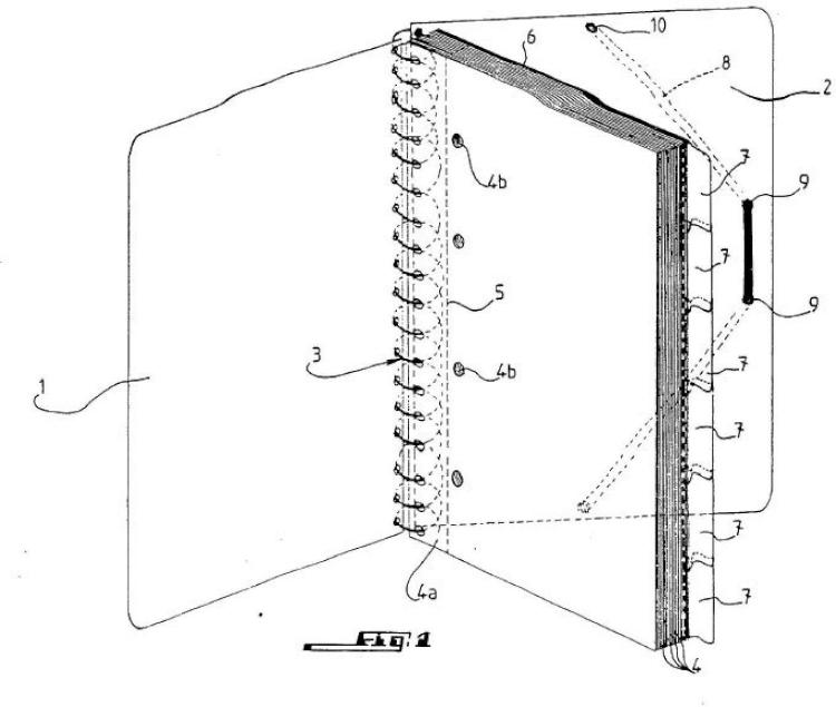 Cuaderno de clasificación de documentos.