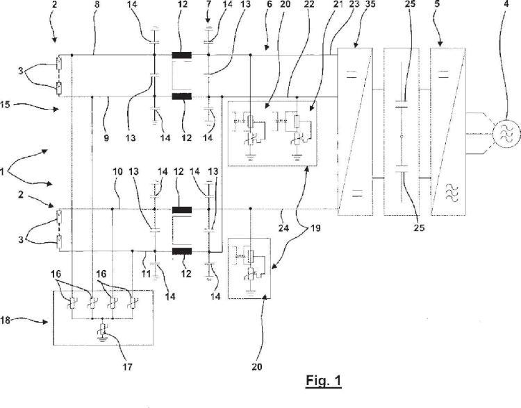 Protección contra sobretensiones para convertidores con filtro EMV de entrada.
