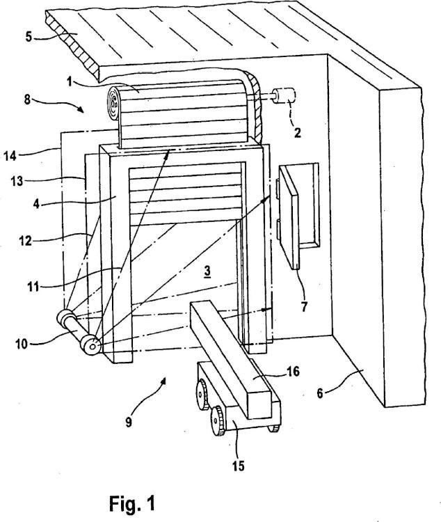 Procedimiento y dispositivo para controlar una puerta que se mueve vertical u horizontalmente protegiendo el plano de cierre de la puerta frente a obstáculos.