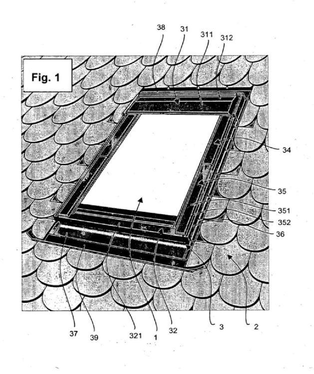 Método y kit de cubierta para la amortiguación acústica de una ventana de techo.