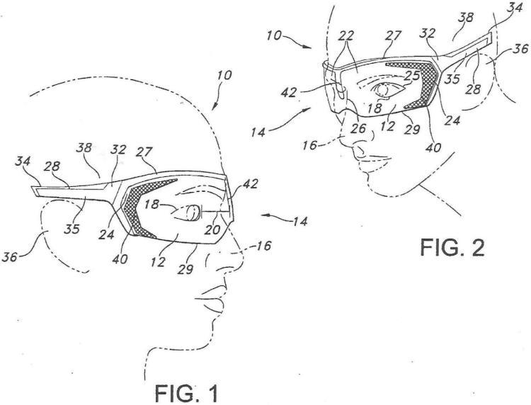 Gafas con características mejoradas de flujo de aire y/o de absorción.
