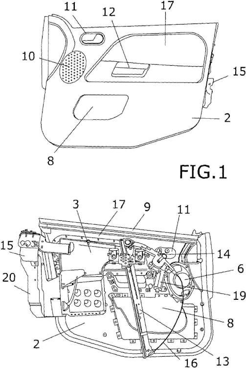 Módulo portante para puertas de vehículo y procedimiento de montaje.