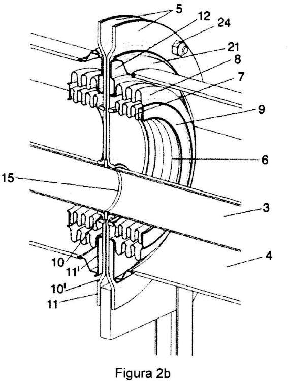 Dispositivo de unión entre tubos receptores solares contiguos.