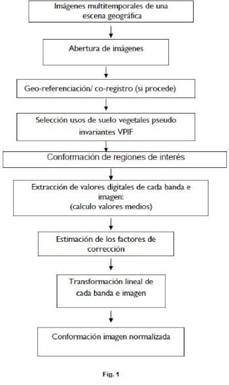 PROCEDIMIENTO PARA LA NORMALIZACIÓN AUTOMÁTICA DE IMÁGENES REMOTAS MULTITEMPORALES EN BASE A USOS DE SUELO PSEUDO-INVARIANTES VEGETALES.