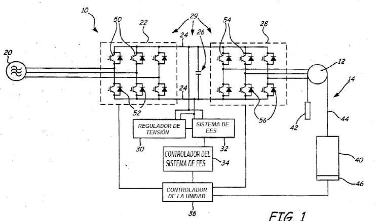 Gestión de potencia de múltiples fuentes en un sistema de potencia de ascensor.