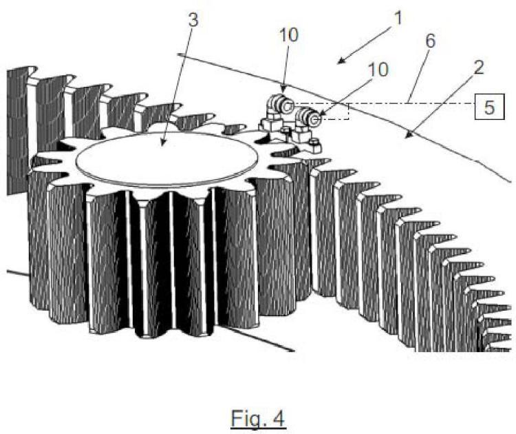 Sistema de lubricación de engranajes.