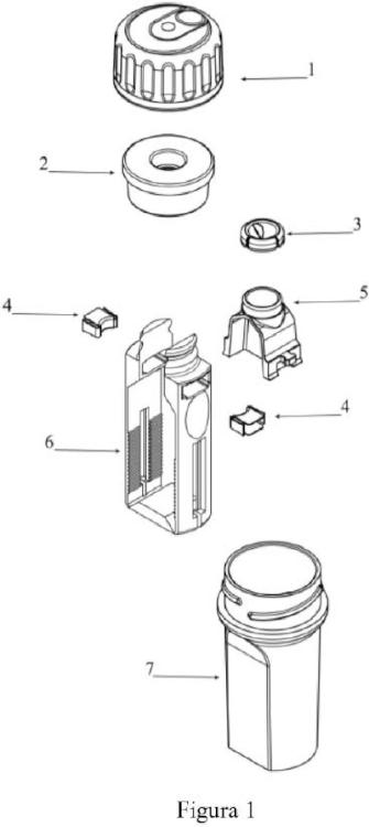 Sistema de embalaje para almacenamiento, captura y transporte de implantes dentales.