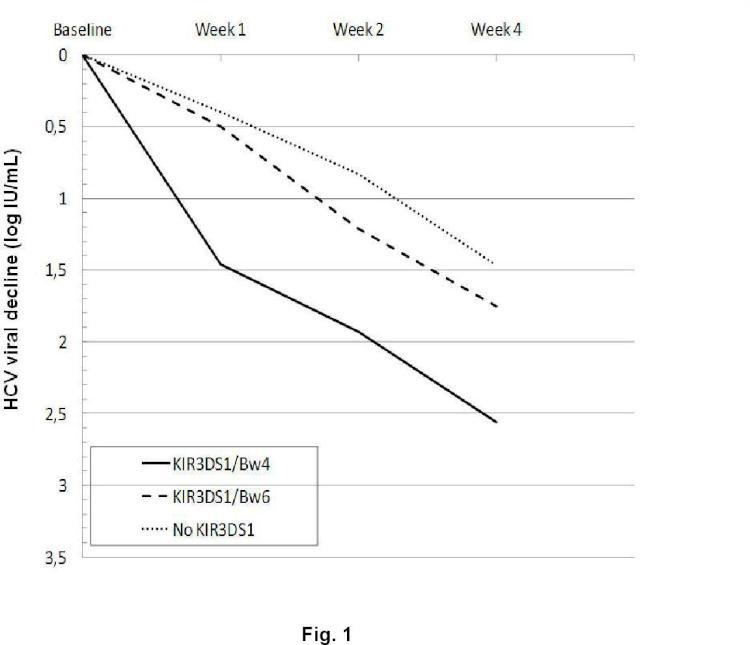 Método de obtención de datos útiles para predecir la respuesta al tratamiento de la Hepatitis C.
