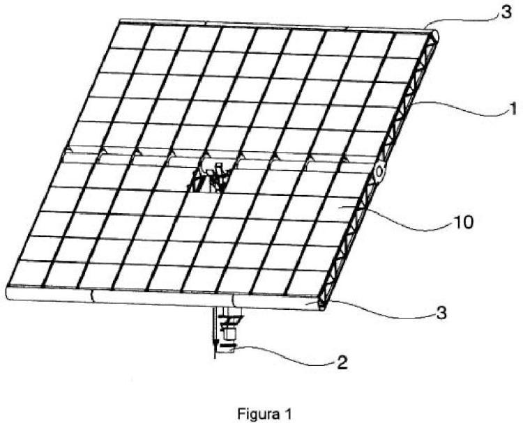 Estructura con deflectores para la captación de energía solar.