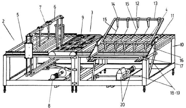 Dispositivo para cortar piezas de cerámica con mecanismo de corte radial.