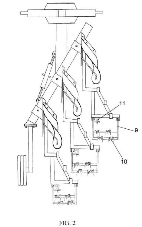 Brazo soporte bastidor reversible con soporte de grada individual para vertedera.